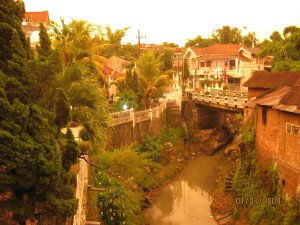 Senja di kota Malang