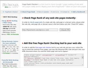 Website prchecker.info